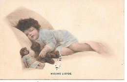 Teddy Bear, Ours En Peluche, Teddybär, Orsacchiotto, Child, Enfant, Kind, Doll, Poupée, Puppe, Sleeping In Bed - Sin Clasificación