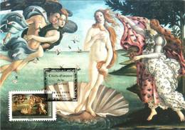 Carte Maximum YT 4137 La Naissance De Vénus De BOTTICELLI TBE 1er Jour 26 01 2008 Paris 75 Chefs D'oeuvre De La Peinture - 2000-09