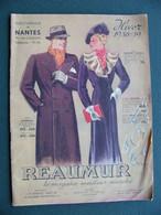 MODE HABILLEMENT Catalogue Réaumur Hiver 1938 1939 Homme Femme Enfant Succursale De NANTES - Fashion