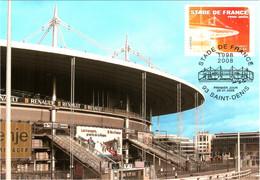 Carte Maximum YT 4142 10e Anniversaire Du Stade De France TBE 1er Jour 28 01 2008 Saint-Denis (93) - 2000-09