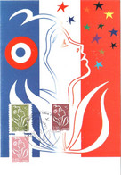Carte Maximum YT 4154, 4155 Et 4158 Marianne De Lamouche TBE 1er Jour 01 03 2008 Paris (75) - 2000-09