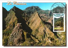 Carte Maximum YT 4170 Le Cirque De Mafate à La Réunion TBE 1er Jour 29 03 2008 Salazié (974) Portraits De Régions - 2000-09