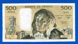 500 Fr   5 / 8 /1982 - 500 F 1968-1993 ''Pascal''