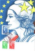 Carte Maximum YT 4239, 4240 Et 4241 Marianne Et L'Europe Roulette De Beaujard TBE 1er Jour 17 06 2008 Paris (75) - 2000-09