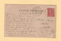 Algerie - Rovigo - Alger - OL Origine Locale - 1904 - Type Semeuse - 1877-1920: Semi-Moderne