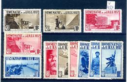 LOT 11 VIGNETTES HOMENATGE A LA URSS 1937  V457 - Verschlussmarken Bürgerkrieg