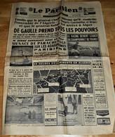 Rare  Journal Le Parisien Du 24 Avril 1961 Menace De Parachutage Sur Les Aéroports Parisiens - 1950 - Nu