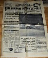 Rare  Journal L'Aurore Du 24 Avril 1961 Menace De Parachutage Sur Les Aéroports Parisiens - 1950 - Nu
