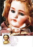 Carte Maximum YT 4394 Poupée En Porcelaine 1er Jour 17 10 2009 TBE Cachet PARIS (75) Les Poupées De Collection - 2000-09