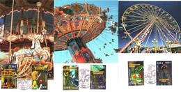 Série Complète Des Cartes Maximum 6 Timbres YT 4378 à 4383 La Fête Foraine 1er Jour 05 09 2009 Cachet PARIS TBE 4 Scans - 2000-09