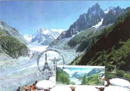 Carte Maximum YT 3026 Ou 3027 La Mer De Glace, Vallée De Chamonix, França 1er Jour 21 06 2008 TBE Rio - Maximum Cards