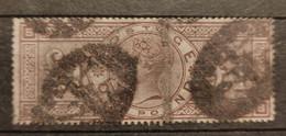 SG 185  :1884 Queen Victoria £1 BROWN-LILAC Watermark THREE IMPERIAL CROWNS , Coté:2715 Euros (SG 2008) - Usati