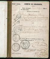 Livret De Mariage - 1861 - Pierre DELANDTSHEER / Céline DESCANS - Schaerbeek - 3 Scans - Documents Historiques