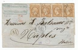 - HERAULT - MONTPELLIER GC 2502/ Paires X2 Du TP Napoleon III N°21 + Càd T.15 - 1868 - 1862 Napoleon III