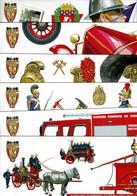2011 - 6  Souvenirs Philatéliques Bicent. De La Brigade Des Sapeurs-pompiers De Paris - Pochettes Sans Bloc Avec Timbre - Documenti Della Posta