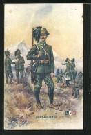 Artista-Cartolina Hingre: Bersagliers, Italienische Infanterie - Zonder Classificatie