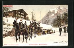 AK Schlittenpartie Mit Pferdeschlitten, Plaisir D`hiver - Cavalli