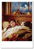 LITTLE BOY Dreaming Of Baseball DOG BOOK JIM DALY KIDS ART Modern Postcard - Sin Clasificación
