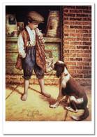 LITTLE BOY Shoe Polisher And DOG JIM DALY KIDS ART Modern Postcard - Sin Clasificación