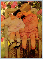 LITTLE GIRL & BOY In Garden Sister Brother New Unposted Postcard - Sin Clasificación
