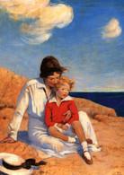 LITTLE BOY With Woman Mom Near SEA Coast Beach New Unposted Postcard - Sin Clasificación