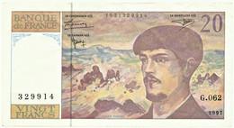 FRANCE - 20 Francs - 1997 - P 151.i - Serie G.062 - CLAUDE DEBUSSY - 20 F 1980-1997 ''Debussy''