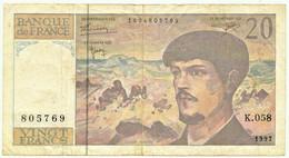 FRANCE - 20 Francs - 1997 - P 151.i - Serie K.058 - CLAUDE DEBUSSY - 20 F 1980-1997 ''Debussy''