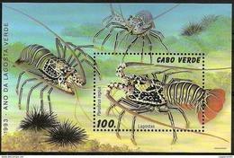 (046) Cape Verde / Cabo Verde  Marine Life Sheet / Bf / Bloc / Crabs / Krebse / 1993  ** / Mnh   Michel BL 24 - Cape Verde
