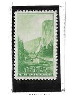 USA=1934  National Parks Stamp 1 Cent Issue  Scot#740 - Ongebruikt