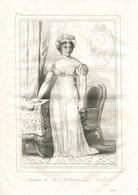 Antique Engraving 1835 Germaine De Staël Madame De Staël  Declaration Of The Rights Of Man And Of The Citizen - Prenten & Gravure