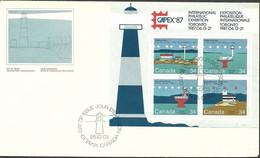 Canada 1985 Mi Bl 4 FDC ( FDC ZS1 CNDbl4 ) - Lighthouses