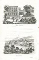Antique Engraving 1835 Switzerland Swiss Geneva Lake Palace Architecture - Prenten & Gravure