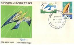 (Y 5)  Australia - FDC - Papua New Guinea Independence (1975) Newcastle Postmark - Papua New Guinea
