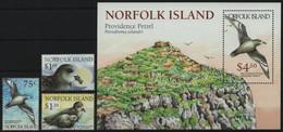 Norfolk-Insel 1999 - Mi-Nr. 692-694 & Block 30 ** - MNH - Vögel / Birds - Isla Norfolk
