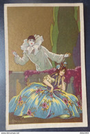 Illustrateur: BUSI ADOLFO - Italian Art Deco - Pierrot - Lady - Circulé: 1930 - 2 Scans. - Busi, Adolfo