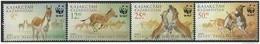 Kazakhstan  2001  Sc#344-7   WWF  Set MNH    2016 Scott Value $3.25 - Unused Stamps