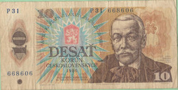 Tchécoslovaquie - Billet De 10 Korun - Pavol Orszagh Hviezdoslav - 1986 - P94 - Tschechoslowakei