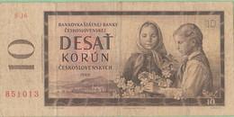 Tchécoslovaquie - Billet De 10 Korun - 1960 - P88b - Tschechoslowakei