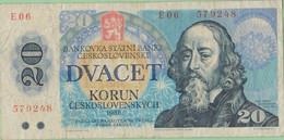 Tchécoslovaquie - Billet De 20 Korun - Jan Amos Komensky - 1988 - P95 - Tschechoslowakei