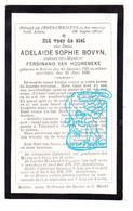 DP Adelaide S. Bovyn ° Eeklo 1797 † 1886 X Ferdinand Van Hoorebeke - Santini