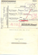 GUERRE 39-45 COR. Du 26-12-40 Pour PRISONNIER Au STALAG XII A LIMBURG AN DER LAHN Reçu 14-3-41 ! - Pli VIA Le STALAG XI - Guerra De 1939-45
