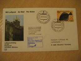 SAINT PETERSBURG Munich 1984 Lufthansa Airlines Airline Boeing 737 First Flight Blue Cancel Cover RUSSIA USSR GERMANY - Briefe U. Dokumente