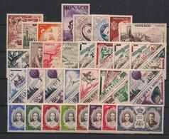 Monaco - Année Complète 1956 - N°Yv. 441 à 477 + PA 61 à 65 - Complet - Neuf Luxe ** / MNH / Postfrisch - Años Completos