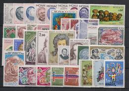 Monaco - Année Complète 1976 - N°Yv. 1043 à 1078 - Complet - Neuf Luxe ** / MNH / Postfrisch - Années Complètes