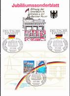 BRD FGR RFA - Sonderblatt Zum 1. Jahrestag Des Mauerfalls Mit (MiNr: 1477/8+Bl. 22) 1990 - Siehe Scan - Storia Postale