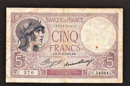 """5 Francs VIOLET""""   13 4 1933 TTB - 5 F 1917-1940 ''Violet''"""