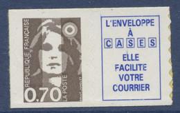 N° 6a Marianne Du Bicentenaire Auto Adhesif  Faciale 0,70 + Vignette - Luchtpost