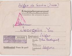 CLFM PRISONNIER GUERRE OFLAG VID MUNSTER (WESTFALEN) 1944 => ALGER ALGERIE VIA GENEVE SUISSE+CENSURE TD322 = CONSTANTINE - 1921-1960: Modern Period