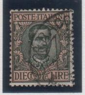 """Regno  - 1910 - """"Floreale"""" Tipo Del 1901 Mdificato £.10 (rif. 91 Cat. Unificato) - Nuevos"""