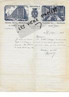 38 - Isère - GRENOBLE - Facture RIVIER - Grand Hôtel Moderne Et Taverne Des 3 Dauphins - 1928 - REF 177A - 1900 – 1949